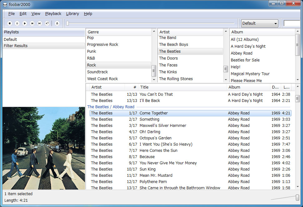 foobar2000_Interface